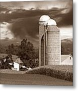 Sunset On The Farm S Metal Print by David Dehner