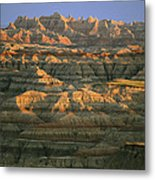 Sunset On The Geological Formations Metal Print