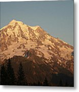Sunset On The Mountain Metal Print
