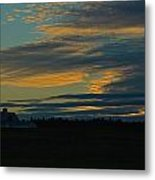 Sunset On The Old Canadian Highway Metal Print
