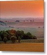 Sunset On The Prairies, Holland Metal Print