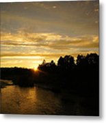 Sunset On The Rogue River Metal Print