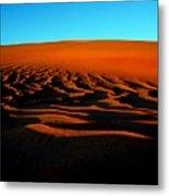 Sunset On The Ubari Sand Sea Metal Print
