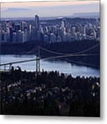 Sunset On Vancouver City Metal Print