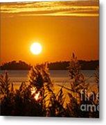 Sunset On White Lake Metal Print
