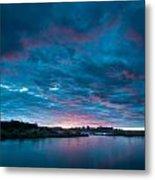 Sunset Over A River  Metal Print