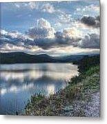 Sunset Over Barker Lake Metal Print