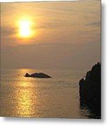 Sunset Over Biarritz  Metal Print