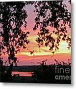 Sunset Over Canyon Lake Metal Print