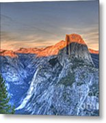 Sunset Over Half Dome Metal Print