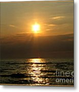 Sunset Over Lake Erie 3 Metal Print