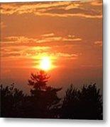 Sunset Over Maine Metal Print
