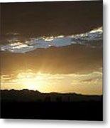 Sunset Over Mt Charleston Metal Print