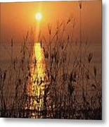 Sunset Over Pacific Metal Print