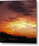 Sunset Over Pigeon Forge Metal Print