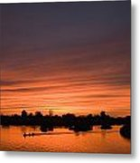 Sunset Over River Metal Print by Axiom Photographic