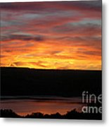 Sunset Over Seneca Lake Metal Print