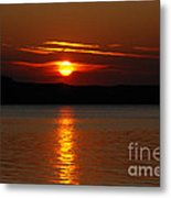 Sunset Over Silver Lake Sand Dunes Metal Print