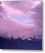 Sunset Over Snow-capped Mountains Metal Print
