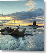 Sunset Over The Admiral Metal Print by Martin Williams