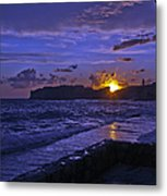 Sunset Over The Adriatic Metal Print