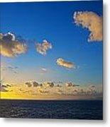 Sunset Over The Caribbean Sea Metal Print