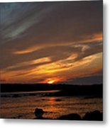 Sunset Over The Clamflats Metal Print
