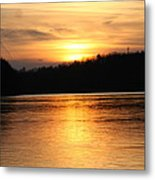 Sunset Over The Connecticut River Metal Print
