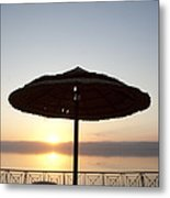 Sunset Over The Dead Sea Metal Print