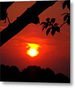 Sunset Over The Golf Course Metal Print