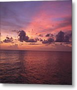 Sunset Over The Gulf Of Mexico Metal Print
