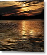 Sunset Over The Lake - 3rd Place Win Metal Print