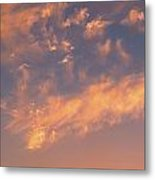 Sunset Over The Moscow River Metal Print