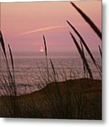Sunset Over The Pacific Ocean Metal Print