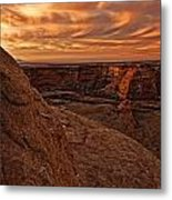 Sunset Over The Rim Of Canyon De Metal Print