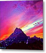 Sunset Over The Sierras Metal Print