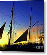Sunset Over The Star Of India Metal Print