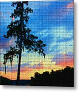 Sunset Over The Suwanee Mosaic Metal Print