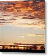 Sunset Over The Tree Line Metal Print