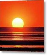 Sunset Over Tidal Flats Metal Print