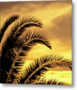 Sunset Palms Metal Print