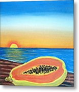 Sunset Payaya Metal Print