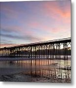 Sunset Pier San Simeon California 1 Metal Print