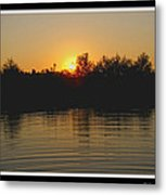 Sunset Pond Metal Print