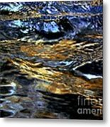 Sunset Reflected On Wave Metal Print