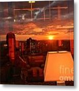 Sunset Reflections Metal Print