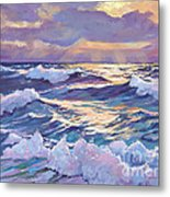 Sunset Santa Catalina Metal Print by David Lloyd Glover