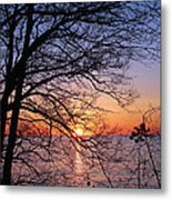 Sunset Silhouette 1 Metal Print