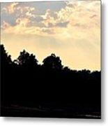 Sunset Silhouettes Over Star Lake Metal Print