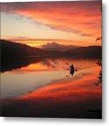 Sunset Solitude On Lake Eastman Metal Print